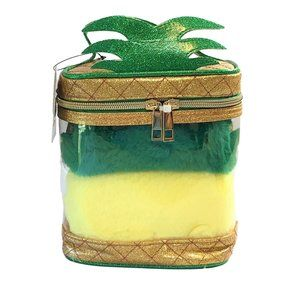 Under One Sky 3Pc Pineapple Make Up Bag Set New